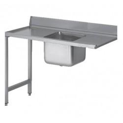 TABLE AVEC BAC DROITE 1600mm