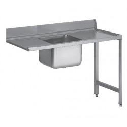 table avec bac a gauche 1600mm